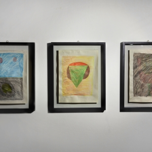"""""""Coraggio"""" """"Vecchio"""" """"Lupo"""" Pastello su carta, Pastel on paper 2011"""