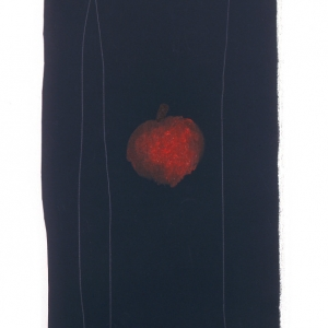 Una mela (An apple) 2010 Olio su tela, Oil on canvas 83X27 cm ca