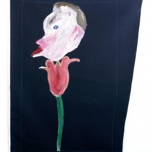 Tulipano (Tulip) 2010 Acrilico su tela, Acrylic on canvas 160X115 cm ca