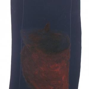 Una zucca (A pumpkin) 2010 Olio su tela, Oil on canvas 88X33 cm ca