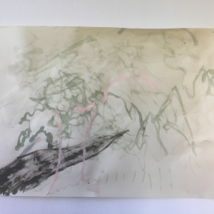 Lorenzo Tamai -en plein air- tecnica mista su carta - 2017